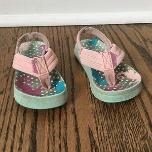 Reef toddler flip flops size 3/4